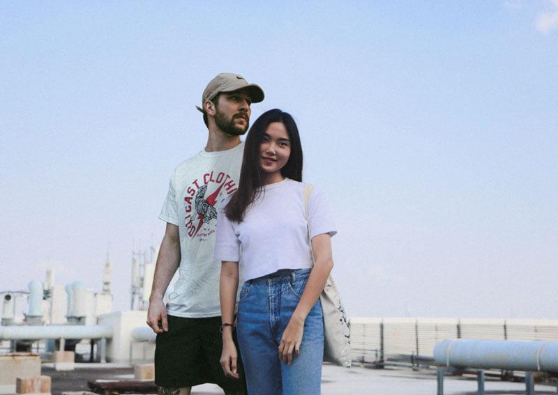 Mei Zhang et Thibault Nelkin fondateurs de la marque Jade Roller